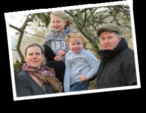 Julian, Emma and the Girls at Pentreclawdd Farm, Oswestry